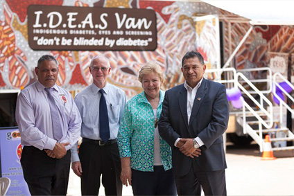 Goondir Health Services CEO Floyd Leedie; Balonne Shire Council Deputy Mayor Richard Marsh; IDEAS CEO Lyndall De Marco; and Goondir Health Services Chairperson Gary White; are pleased to include St George on the Queensland circuit of the IDEAS service.